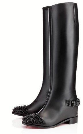 newest 74165 67987 Green Kitten Heels | Knee High Boots Wide Calf | Christian ...