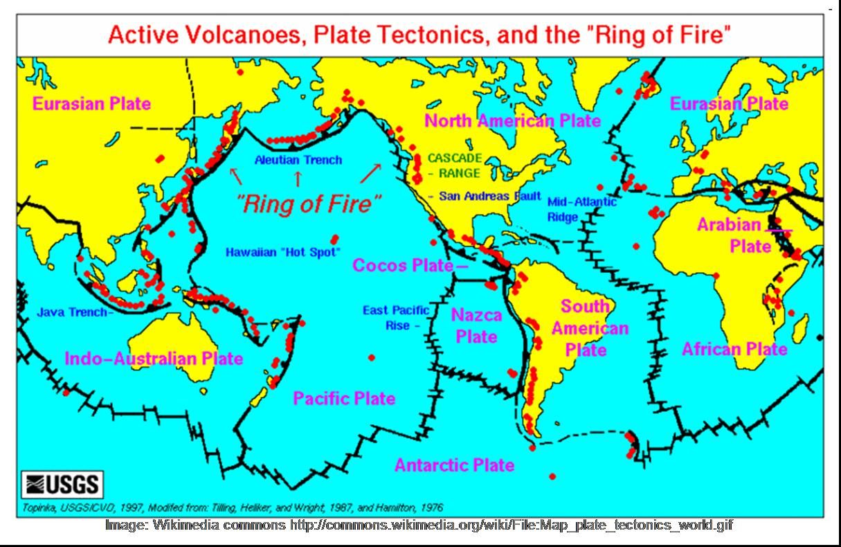 This Is The Pacific Ring Of Fire It Shows Us Where Major