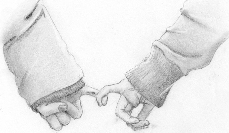 Sketches Of Couples Holding Hands