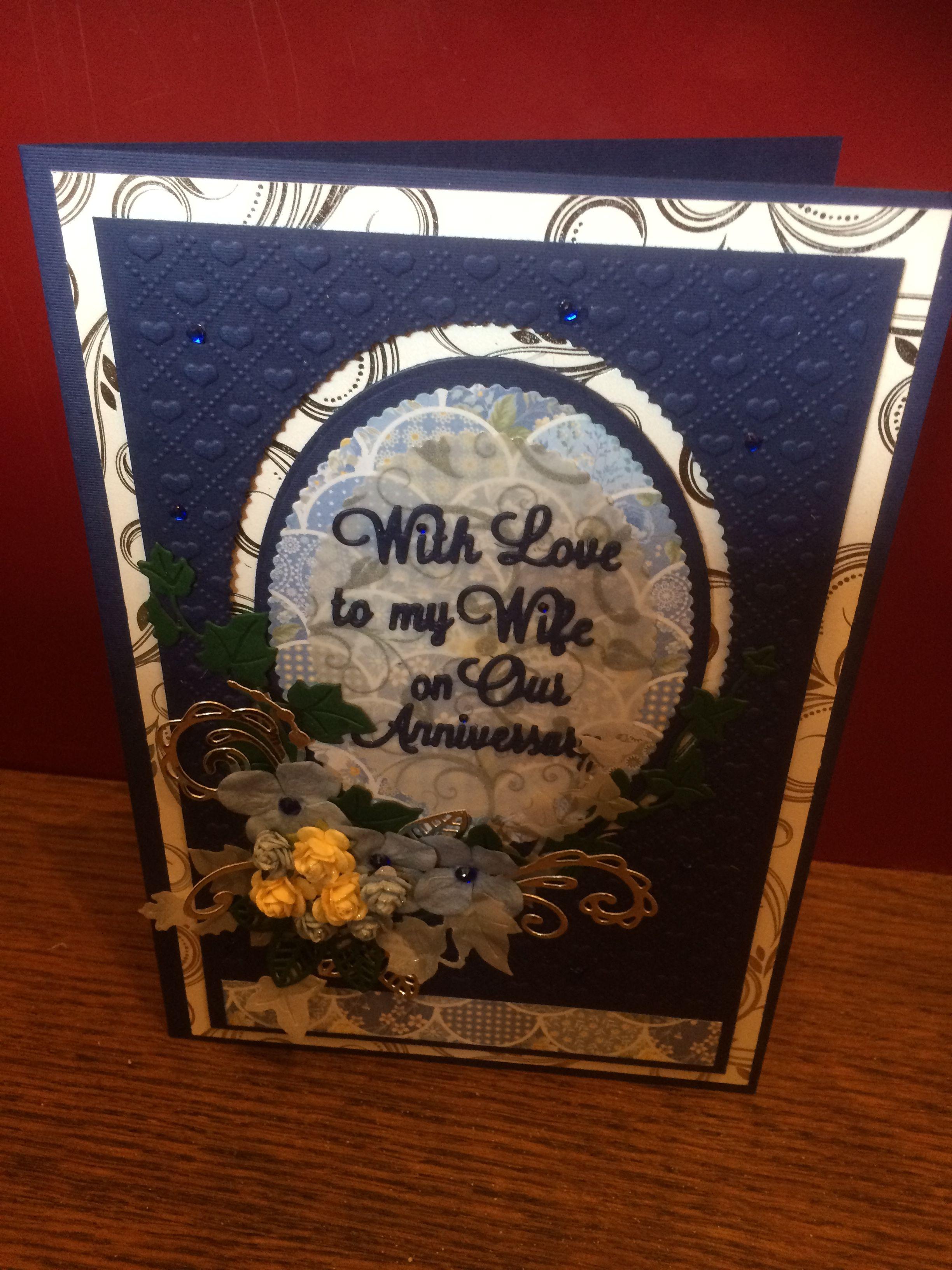 65th Wedding Anniversary card commission Wedding