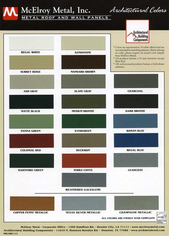 Best Metal Roof Color Chart Metal Roof Metal Roof Colors 400 x 300