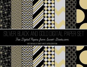 Sweet Nothings: Free Silver, Black and Gold Digital Paper Set