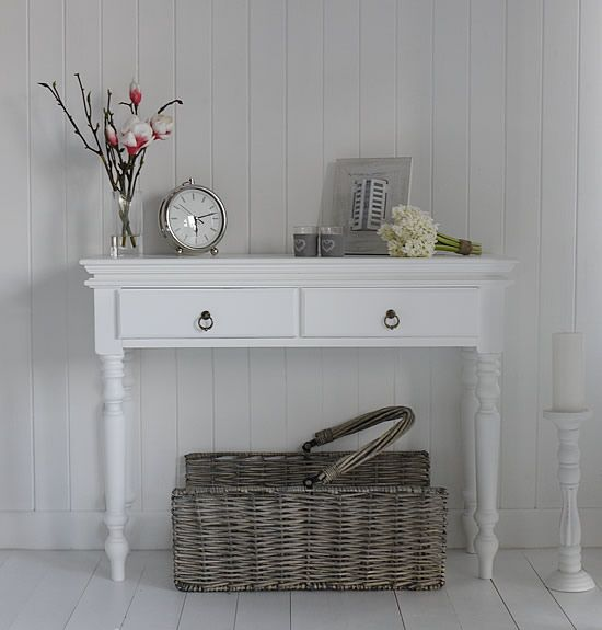 next hallway furniture. The White Lighthouse Hallway Furniture. New England 2 Drawer Console Table. Can Be Used In A Kitchen, Living Room Or Hall Next Furniture O