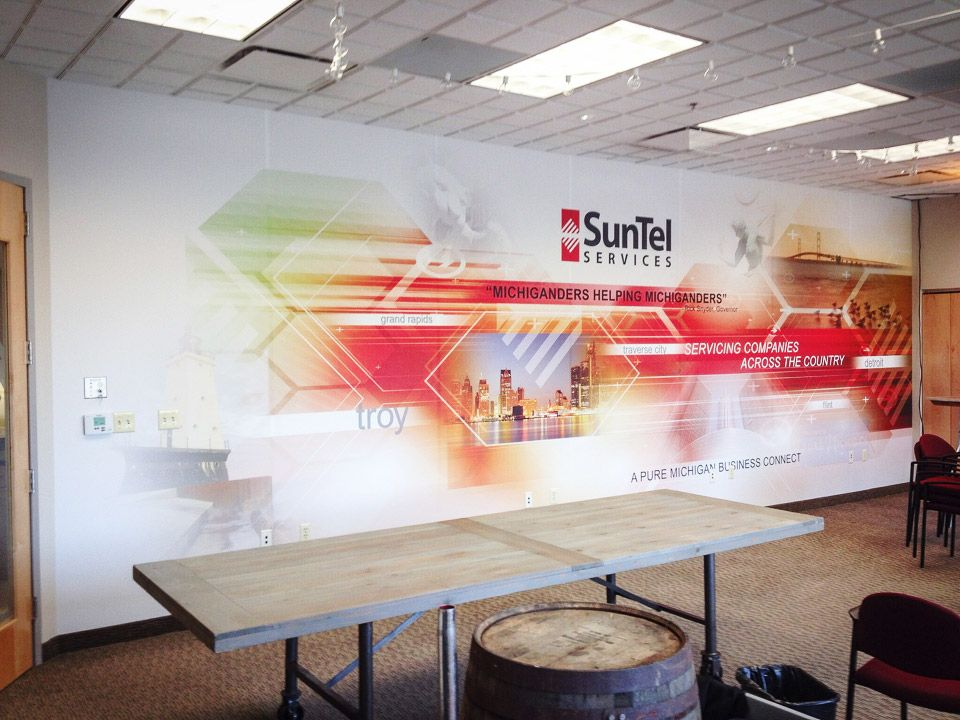 Wall murals pinteres for Corporate mural