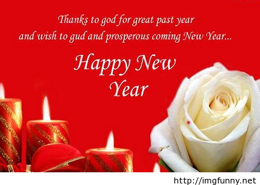 happy new year wishes greeting card with candles image