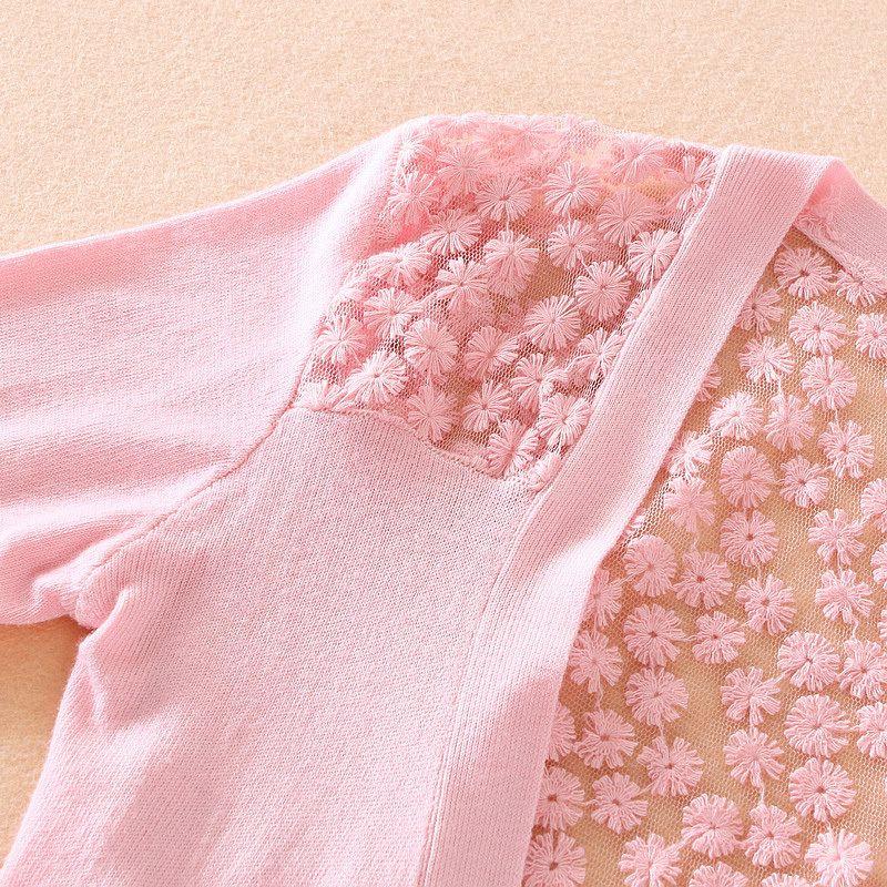Hitz back openwork lace knit cardigan jacket sun
