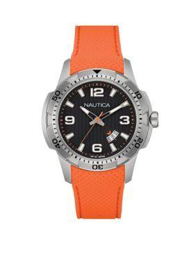 Nautica  Mens Orange NCS 16 Chronograph Watch