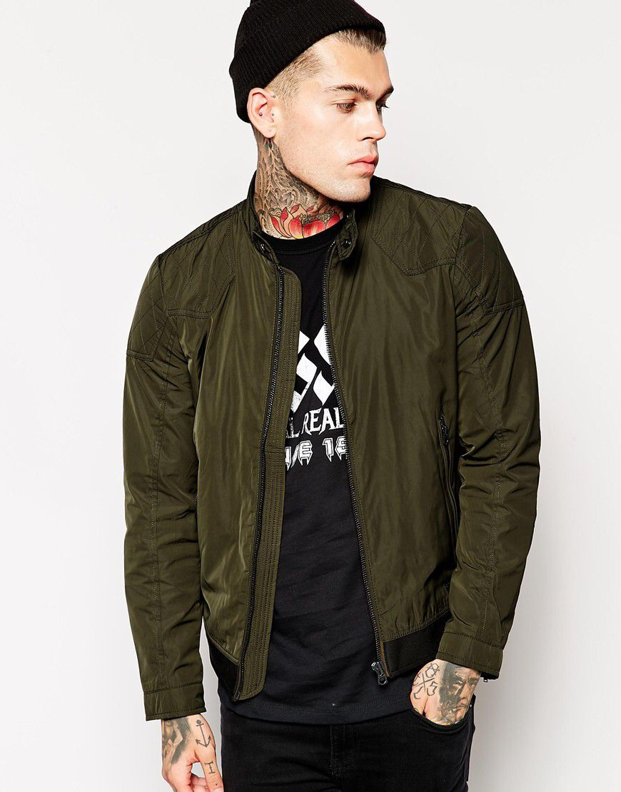 Stephen James for Diesel Jackets, Leather jackets for