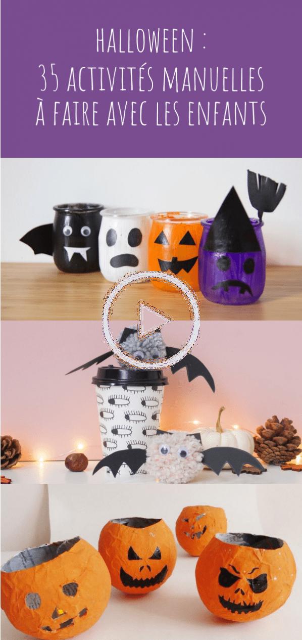 Halloween 35 Idées D Activités Manuelles Et Diy à Faire Avec Les Enfants Diy Decoraciones De Halloween Caseras Bricolage Halloween Manualidades Halloween