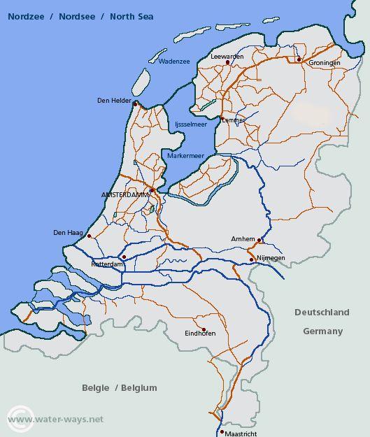 holland kanäle karte Niederlande | water ways.net: Alle Informationen für