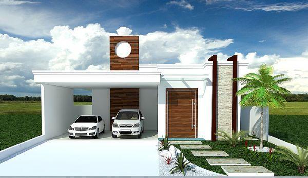 Imagenes de fachadas para casas peque as sencilla blanca for Fotos de fachadas de casas pequenas