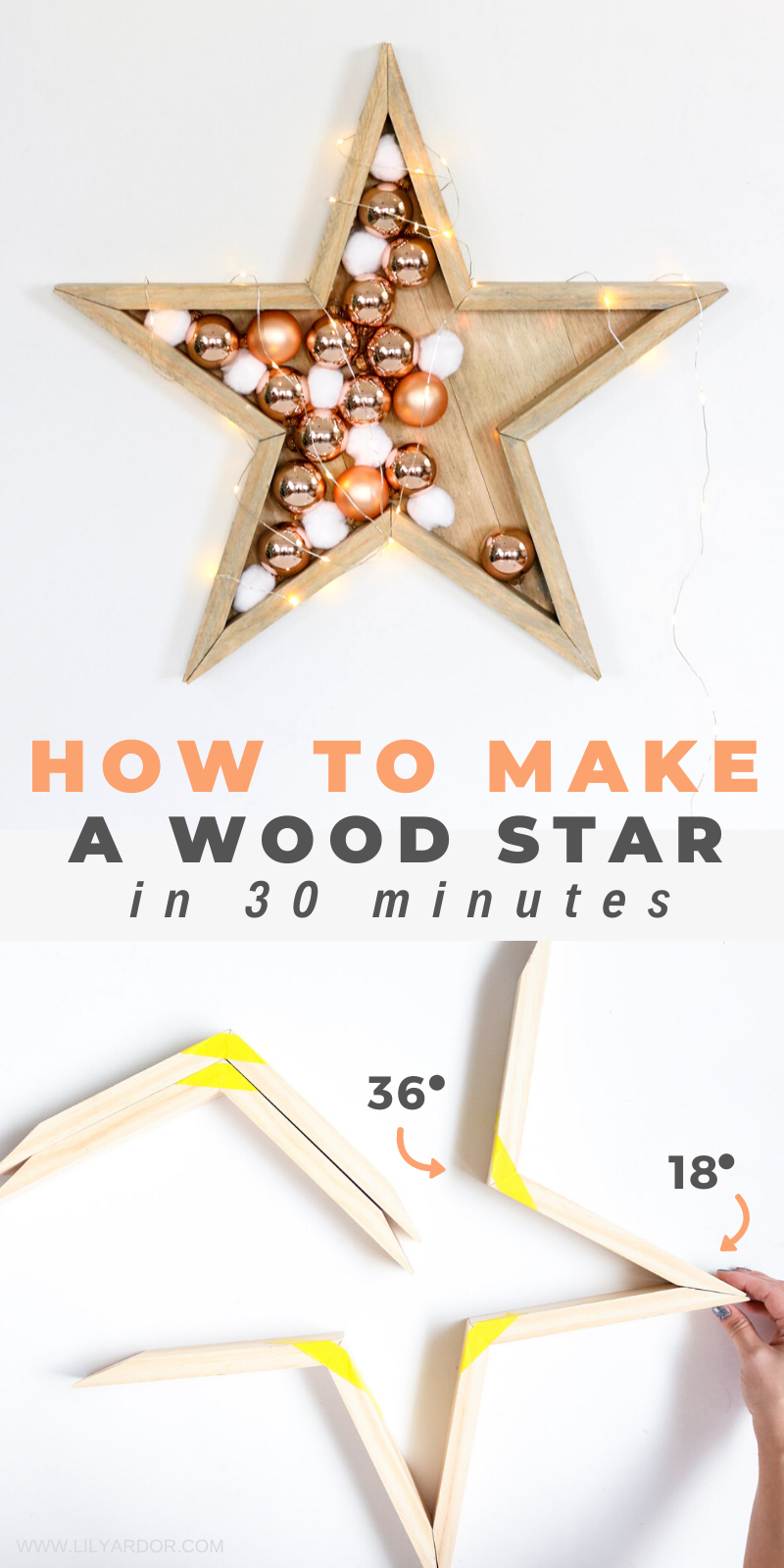 Photo of How To Make A Wood Star | For Christmas or Winter | Wall Decor