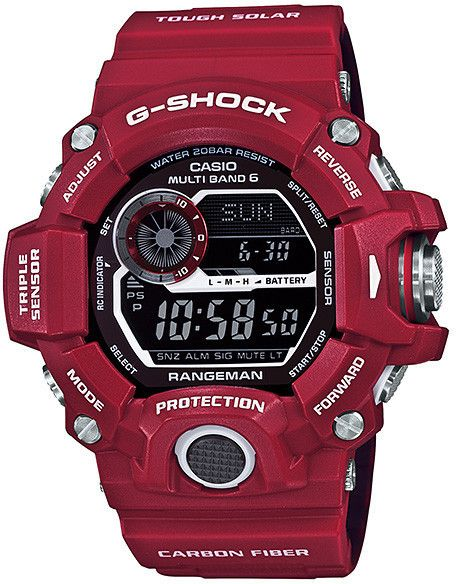 Mens G-Shock Rangeman Men In Rescue Red Series