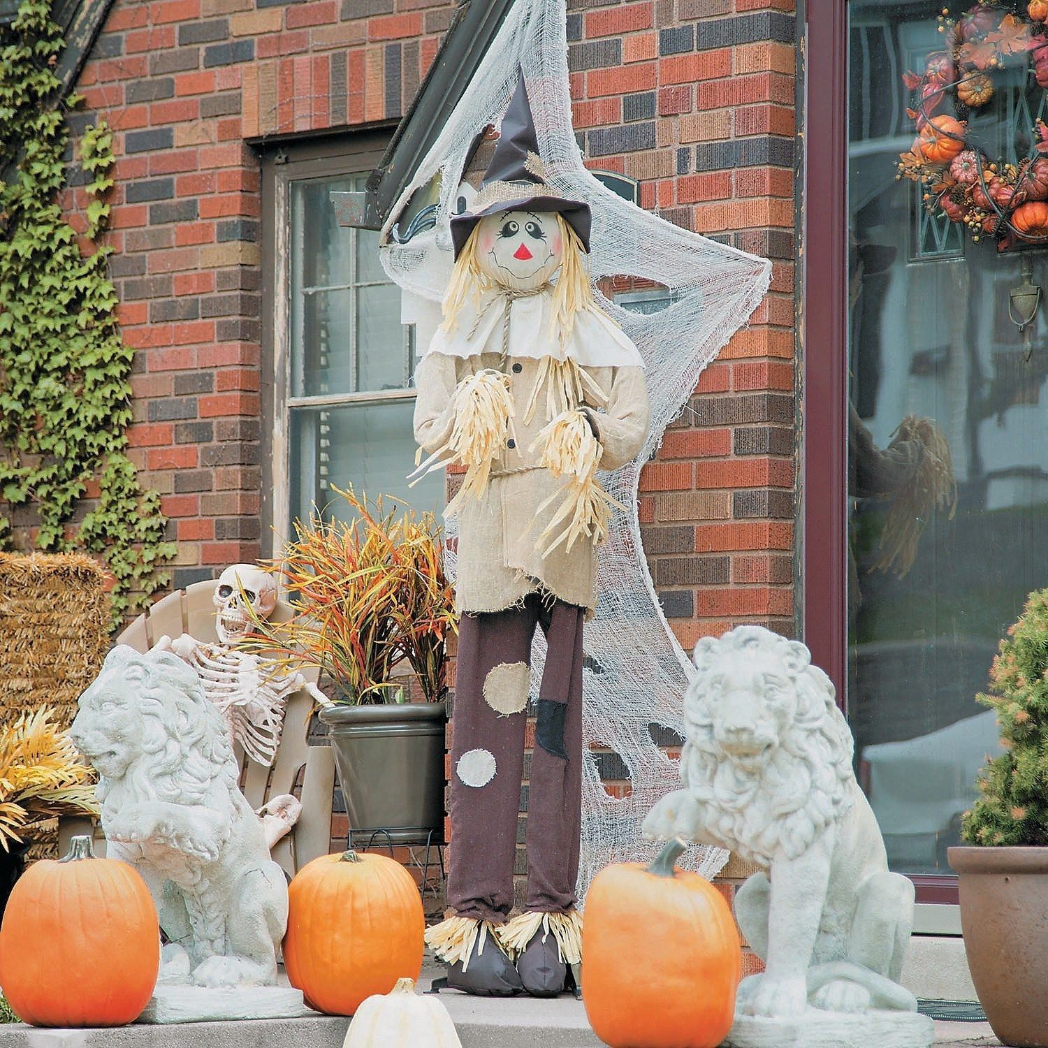 Standing Scarecrow Outdoor Outside Yard Decoration Fall Halloween
