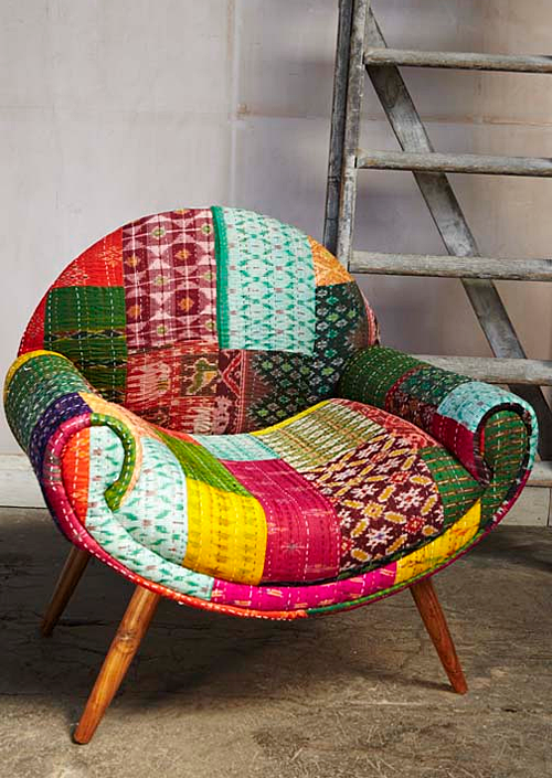 Reupholster with vintage quilts #stoelen