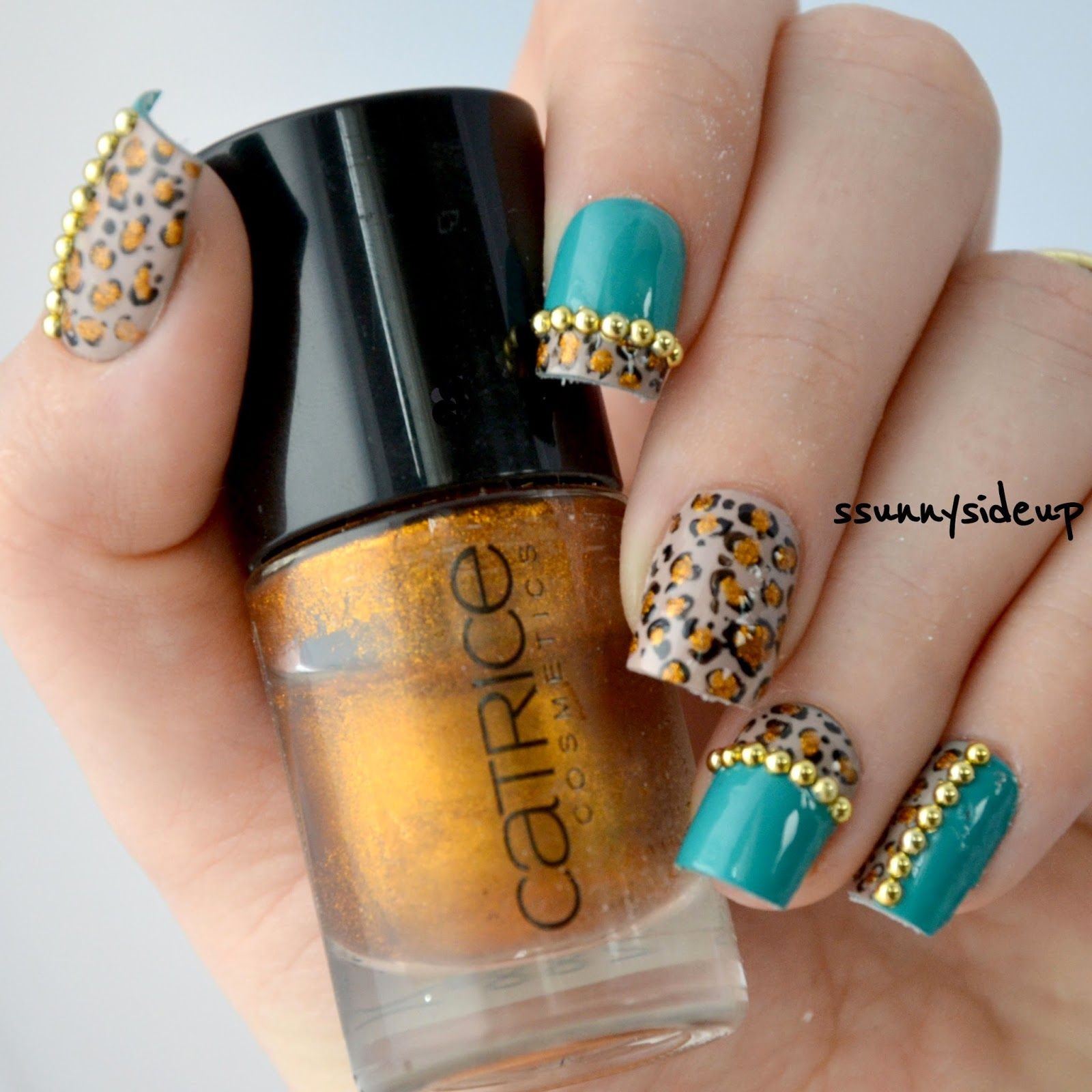 www.ssunnysideup.com leopard print nails with nail decoration from ...