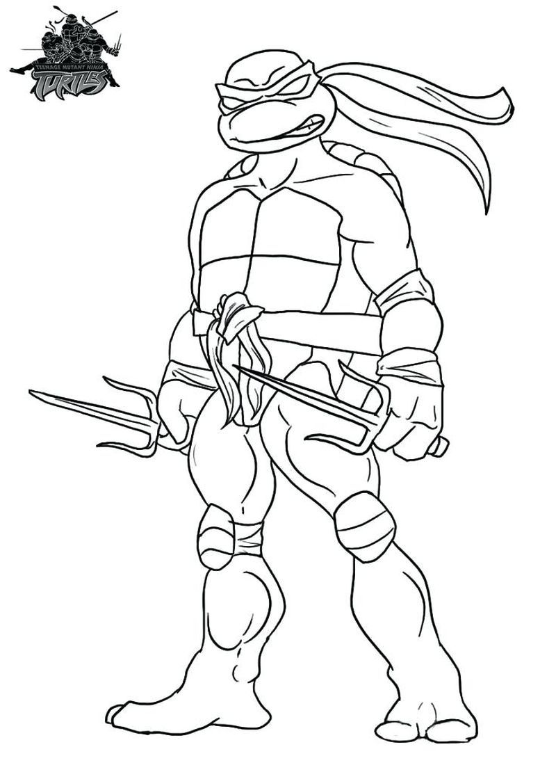 Krang Ninja Turtles Coloring Pages Sketsa Ninja Turtle Cara Menggambar