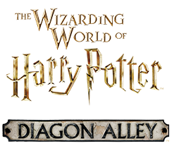 The Logo For The Diagon Alley Area Of The Wizarding World Of Harry Potter A Land Ins Wizarding World Wizarding World Of Harry Potter Universal Studios Florida