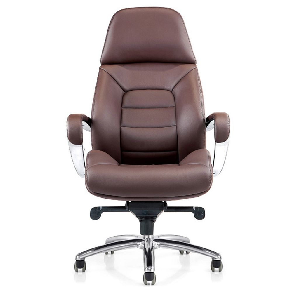 office chair genuine leather white. Gates Genuine Leather Aluminum Base High Back Executive Chair | Zuri Furniture Office White