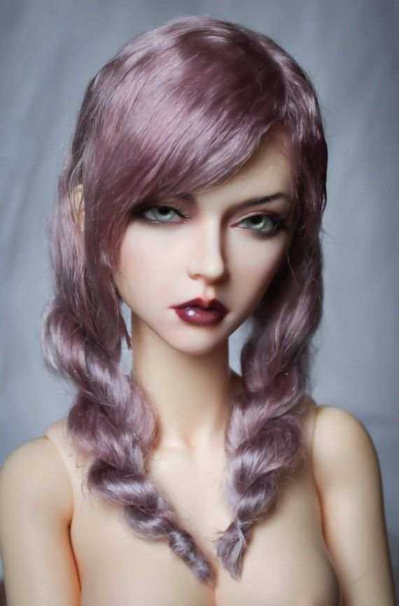 Photo of Bjd wig with two twisted braids –  Bjd wig with two twisted …