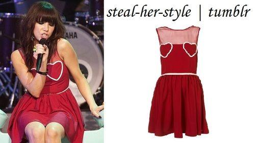 Topshop Heart Mesh Flippy Dress