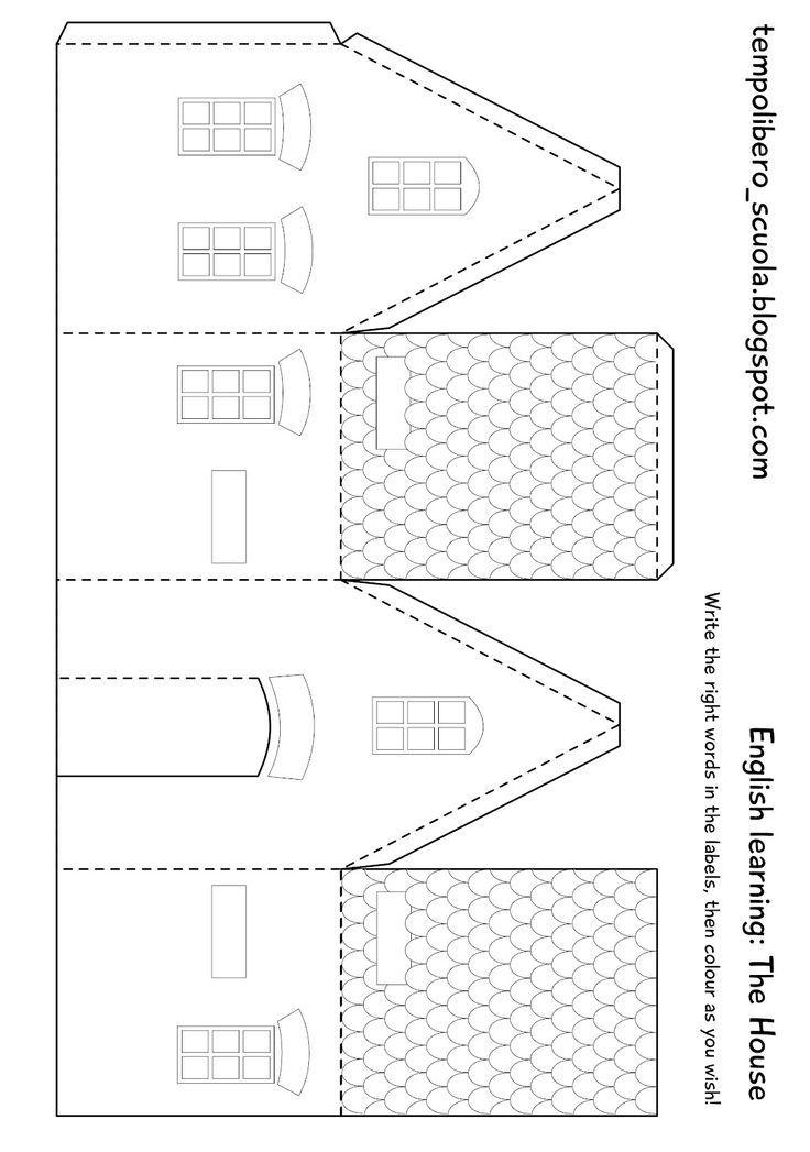 Paper House Template  Costruzioni Di Carta    House