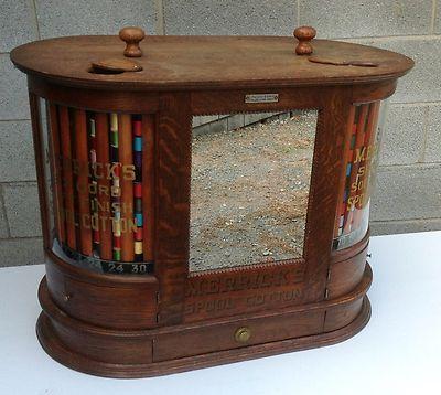 Merrick S Oak Double Spool Cabinet Ebay Antiques Pinterest Antique Sewing Machine Cabinets
