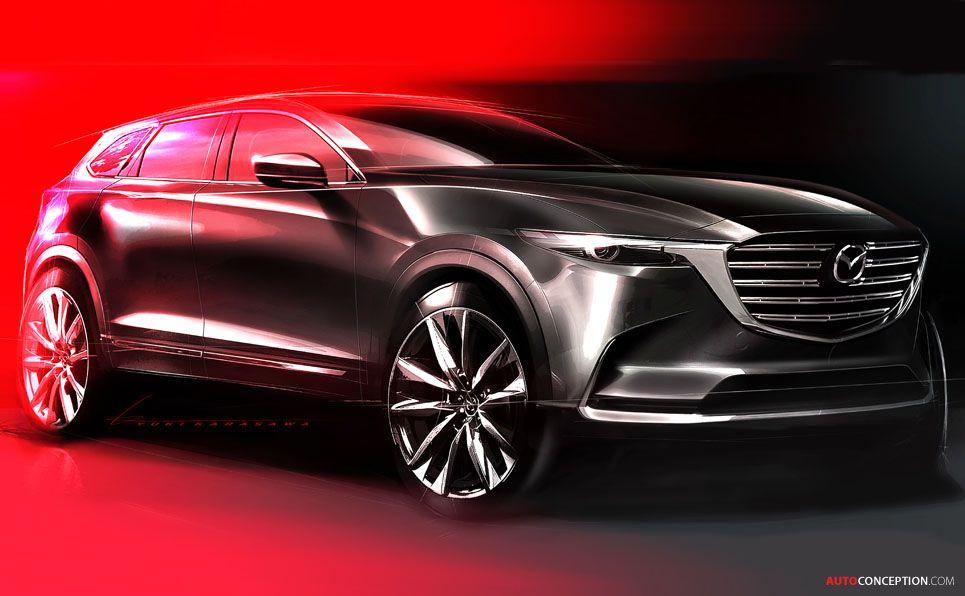 New Cx 9 Crossover Previews Next Generation Mazda Design Autoconception Com Future Concept Cars Mazda Mazda Cx 9