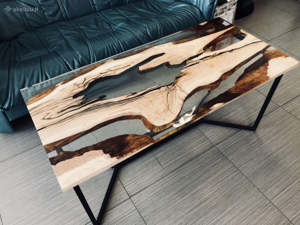Coffee Table With Clear Epoxy Resin Resin Furniture Clear Epoxy Resin Coffee Table [ 768 x 1024 Pixel ]