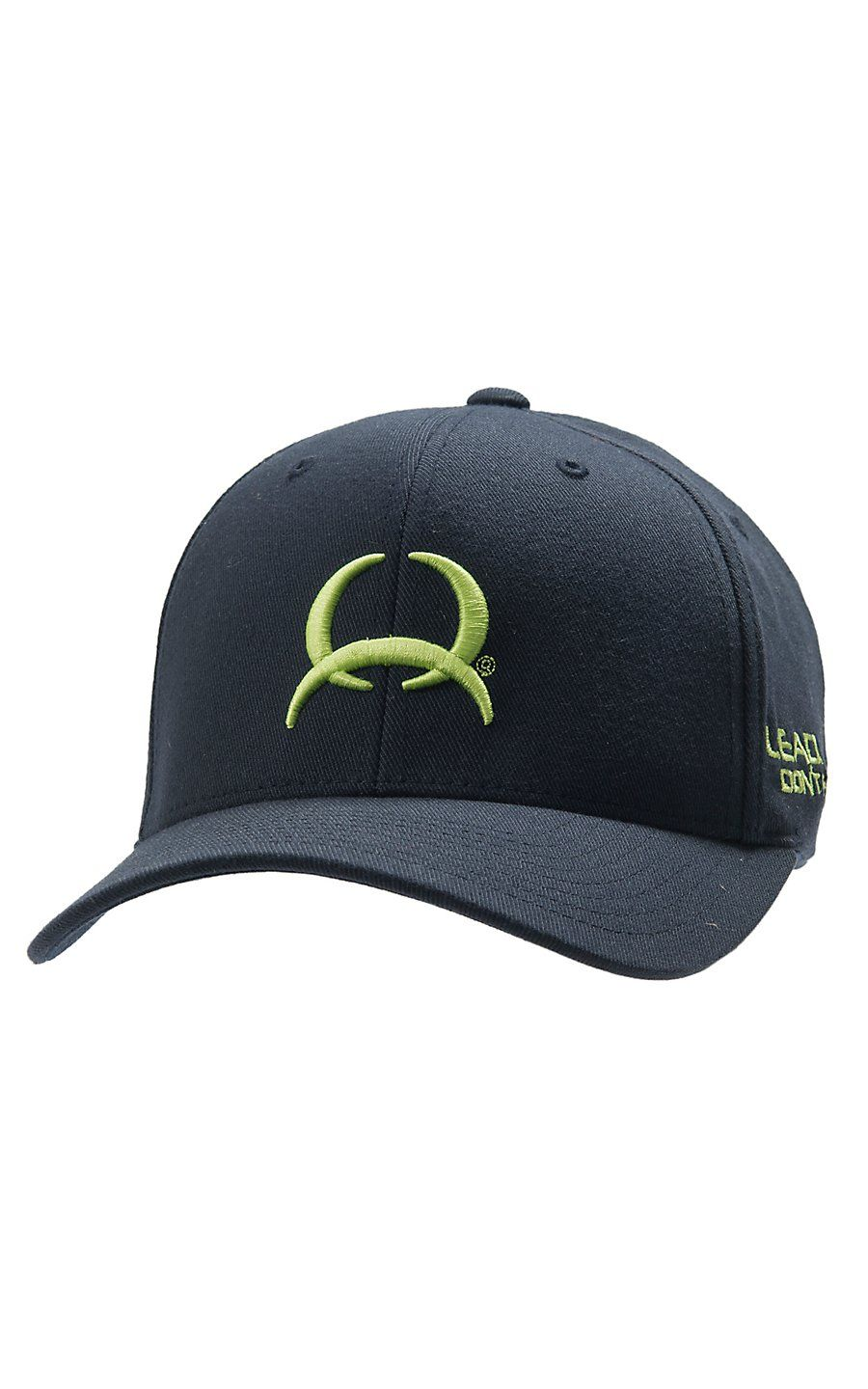 Cinch Navy with Lime Tech Logo Flex Fit Cap C0658006  ccd1777008d