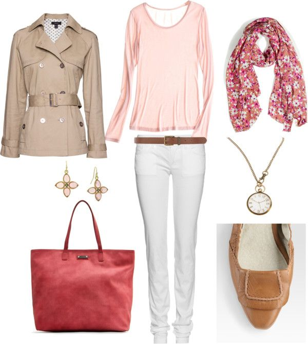 """""""Coral and Tan"""" by bluehydrangea on Polyvore"""