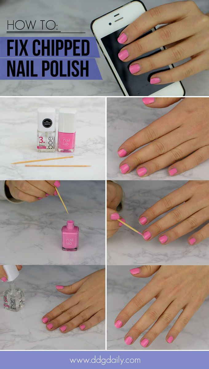 How To Fix Chipped Nail Polish In Just A Few Minutes Chipped Nail Polish No Chip Nails Nail Polish