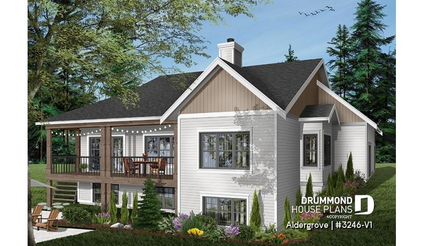 Discover The Plan 3246 V1 Aldergrove Which Will Please You For Its 5 4 Bedrooms And For Its Country Styles Craftsman Style House Plans House Plans Drummond House Plans