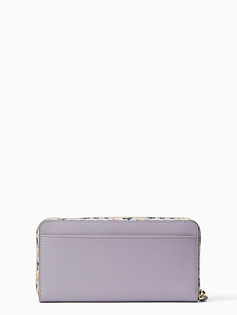 ff557e0cb Kate Spade Cameron Micro Floral Large Continental Wallet, Icy Lavender
