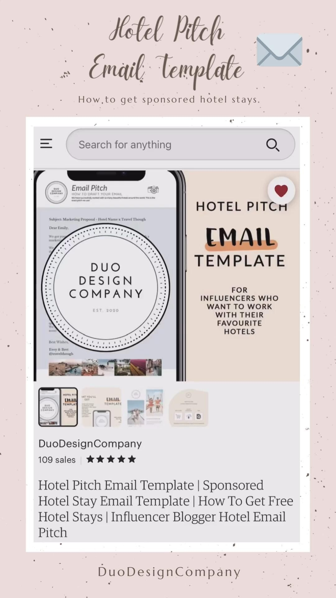 Hotel Pitch Email Template Sponsored Hotel Stay Email Etsy Video Video Email Templates Media Kit Template Free Hotel