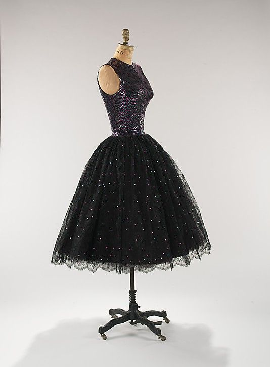 Dress, Evening  Traina-Norell  (American, founded 1941)  Designer: Norman Norell (American, Noblesville, Indiana 1900–1972 New York City) Date: ca. 1955 Culture: American Medium: synthetic, silk