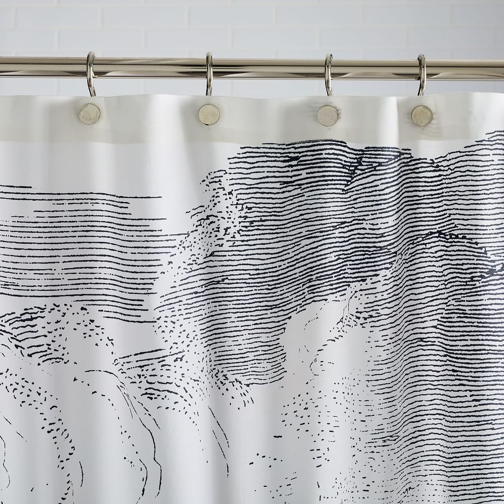 Organic Cloud Shower Curtain In 2020 Gray Shower Curtains
