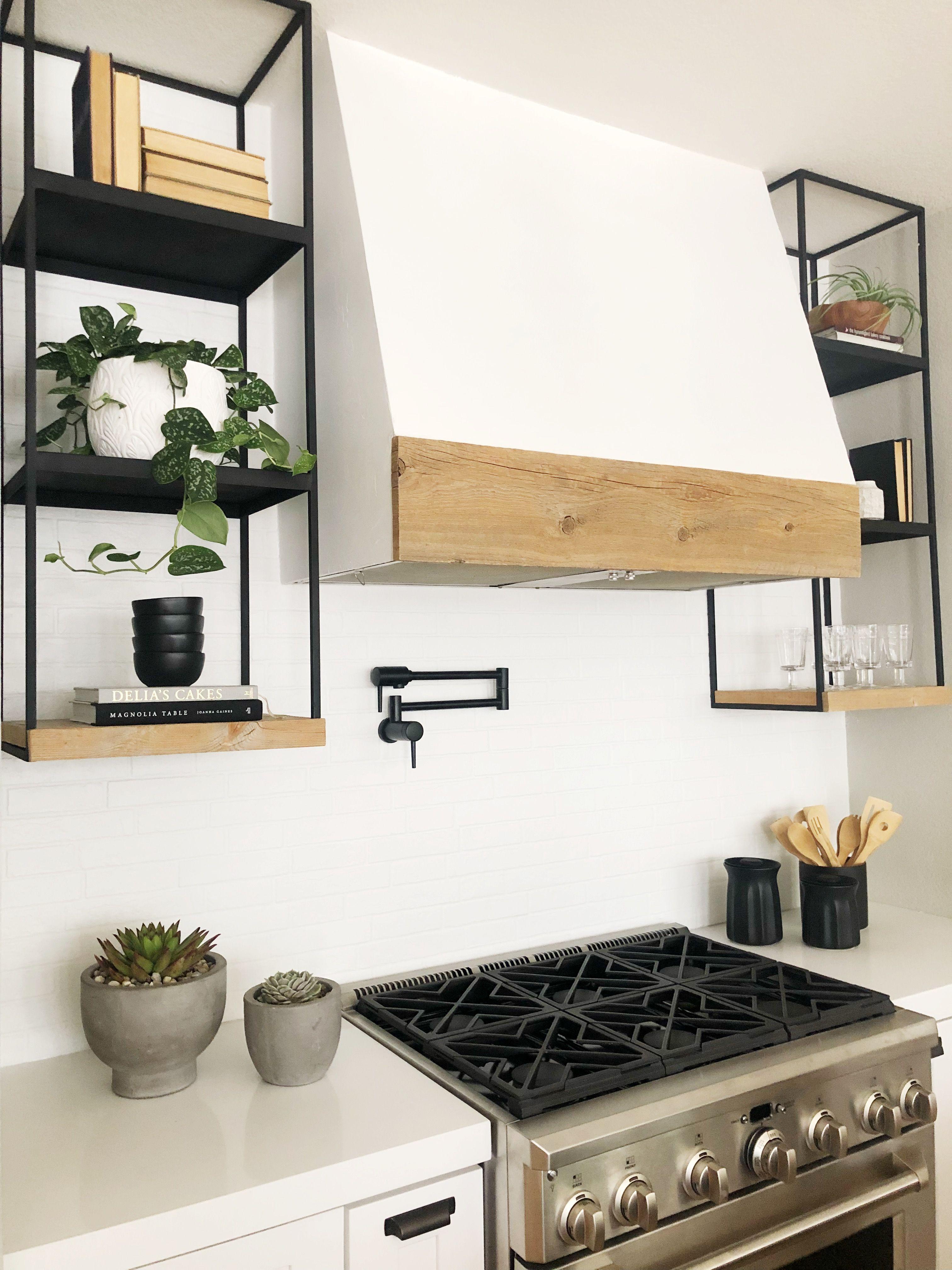 plaster kitchen hood black open metal shelving kitchen shelf design open kitchen shelves on kitchen decor open shelves id=85143