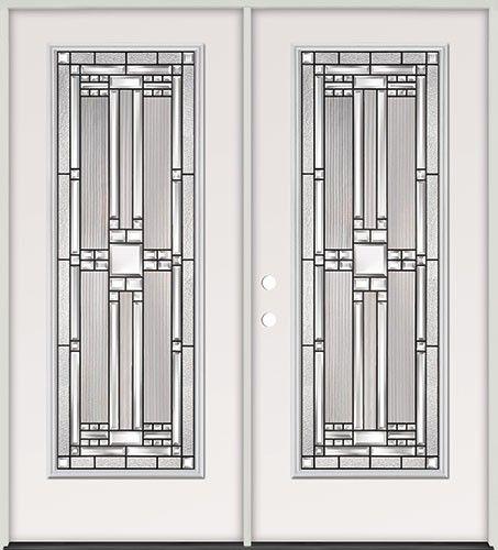 Full Lite Steel Prehung Double Door Unit 291 Beautiful Discount