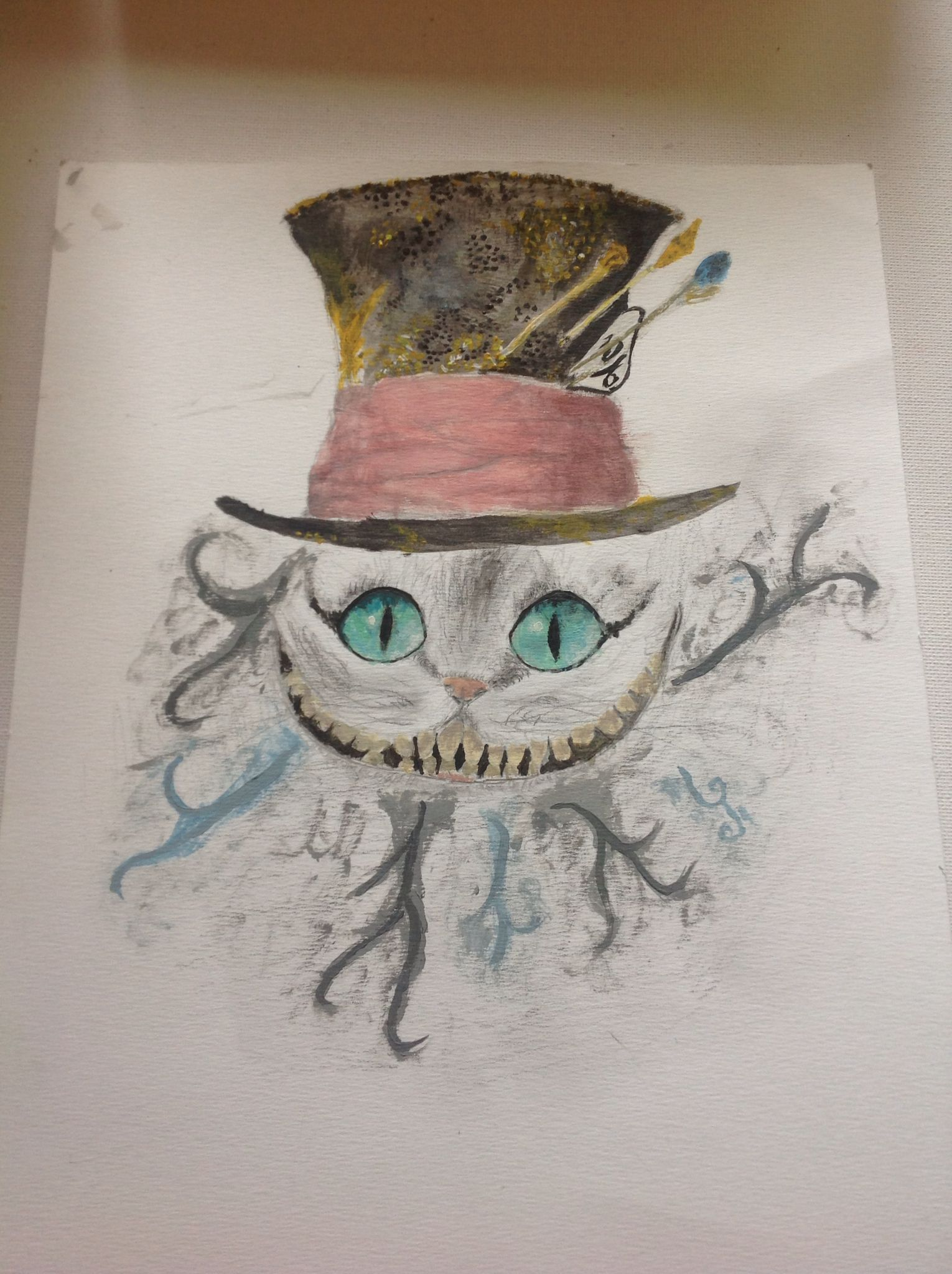 Mad hatter alice in wonderland drawing