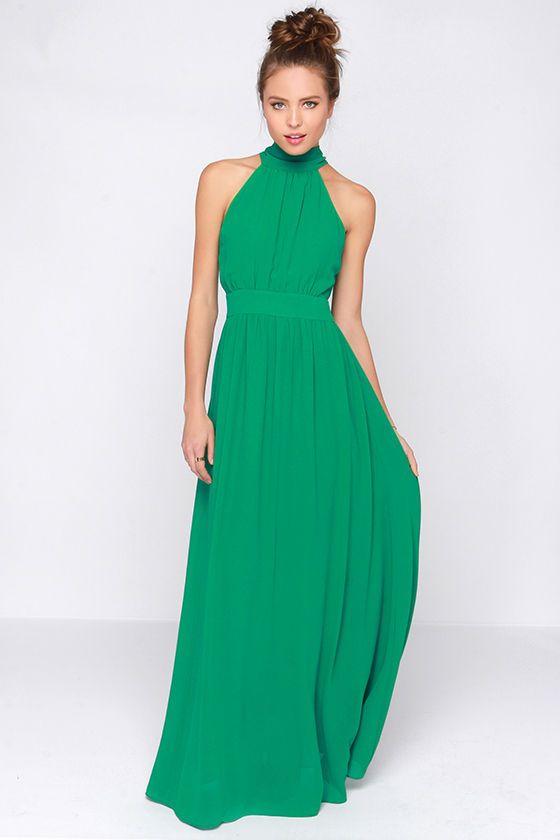 Exclusive Modern Duchess Green Maxi Dress   Green maxi, Green maxi ...