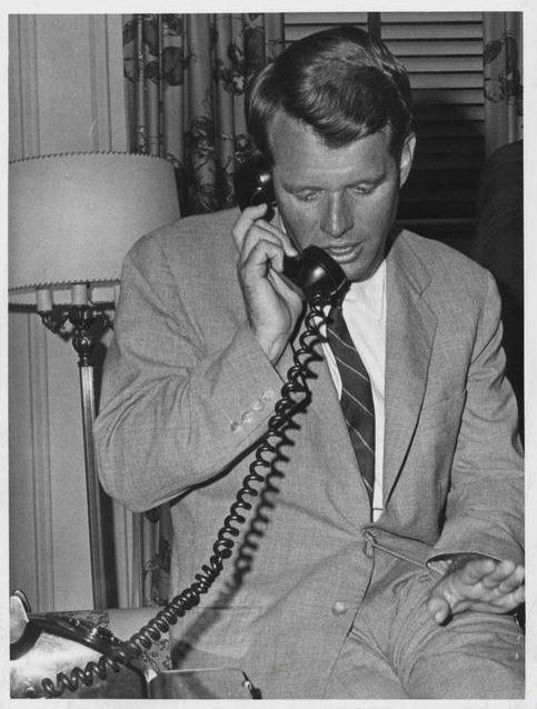 ผลการค้นหารูปภาพสำหรับ bobby kennedy telephone