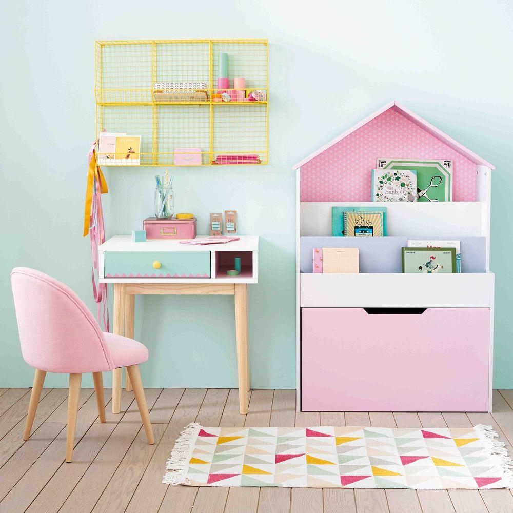 Bibliothèque maison enfant rose | Maisons du Monde | Детская мебель ...