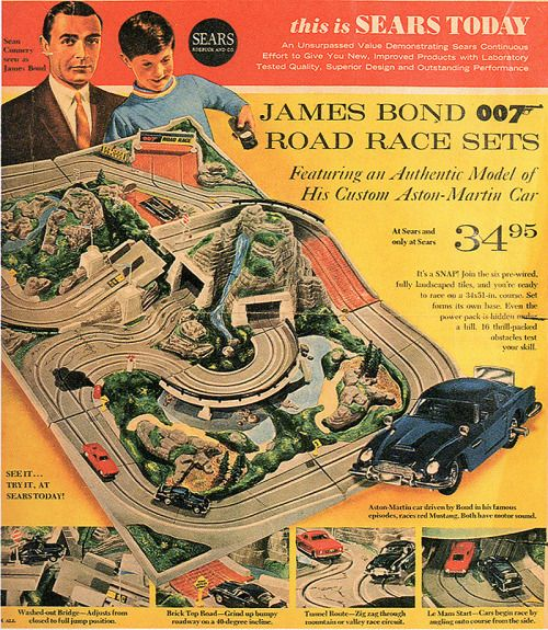 James Bond Road Race set from Sears (1964) - Sept 14th, 2014 - Retropopcult