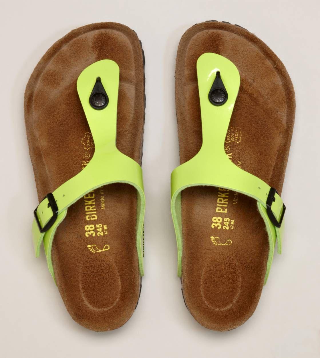 e310a4be3dde Lime Green Birkenstock Gizeh Sandal Flip Flops  sandals  summer