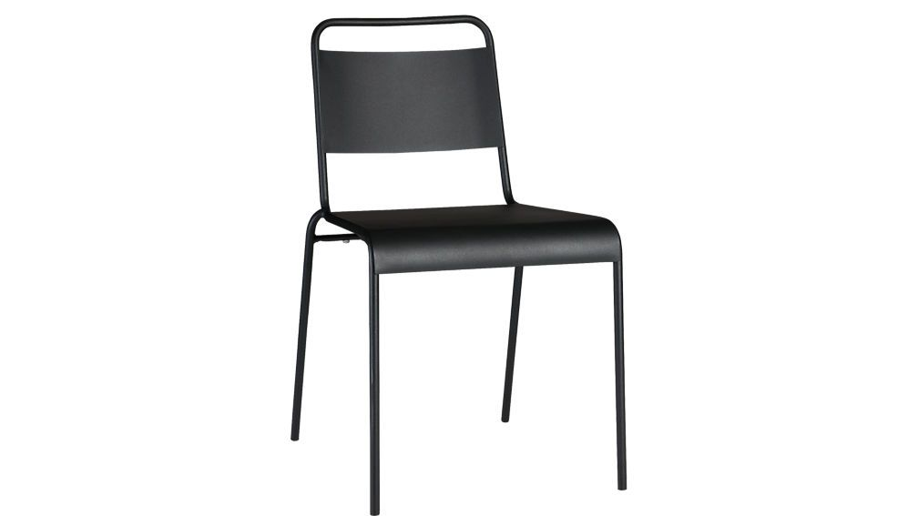 Lucinda Black Stacking Chair Modern Dining Chairs Dining Chairs