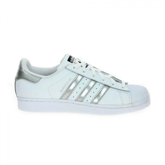 info pour 126c5 a361b Tennis blanc et argent ADIDAS SUPERSTAR - Bessec-chaussures ...