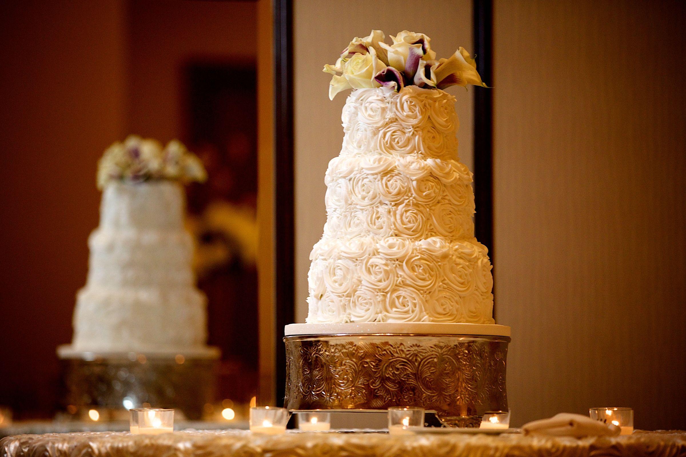 Wedding Cake At The Hilton Garden Inn Virginia Beach Oceanfront