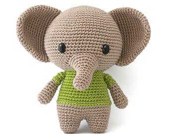 Easy Amigurumi Pdf : Crochet pattern elephant amigurumi pdf products i love