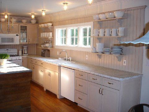 Beadboard On Kitchen Cabinets Walls And Ceilings Beadboard Kitchen Cheap Kitchen Cabinets Kitchen Wall Covering